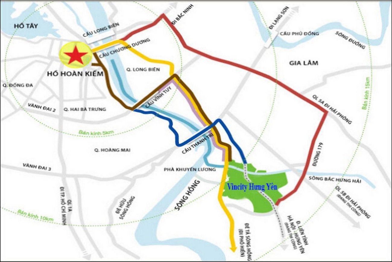 Vị trí chiến lược và đắc địa tại nhà phố Vinhomes Dream City Hưng Yên