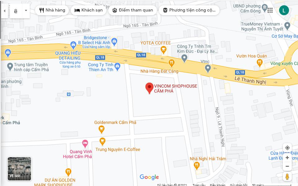Vị trí Vincom Cẩm Phả