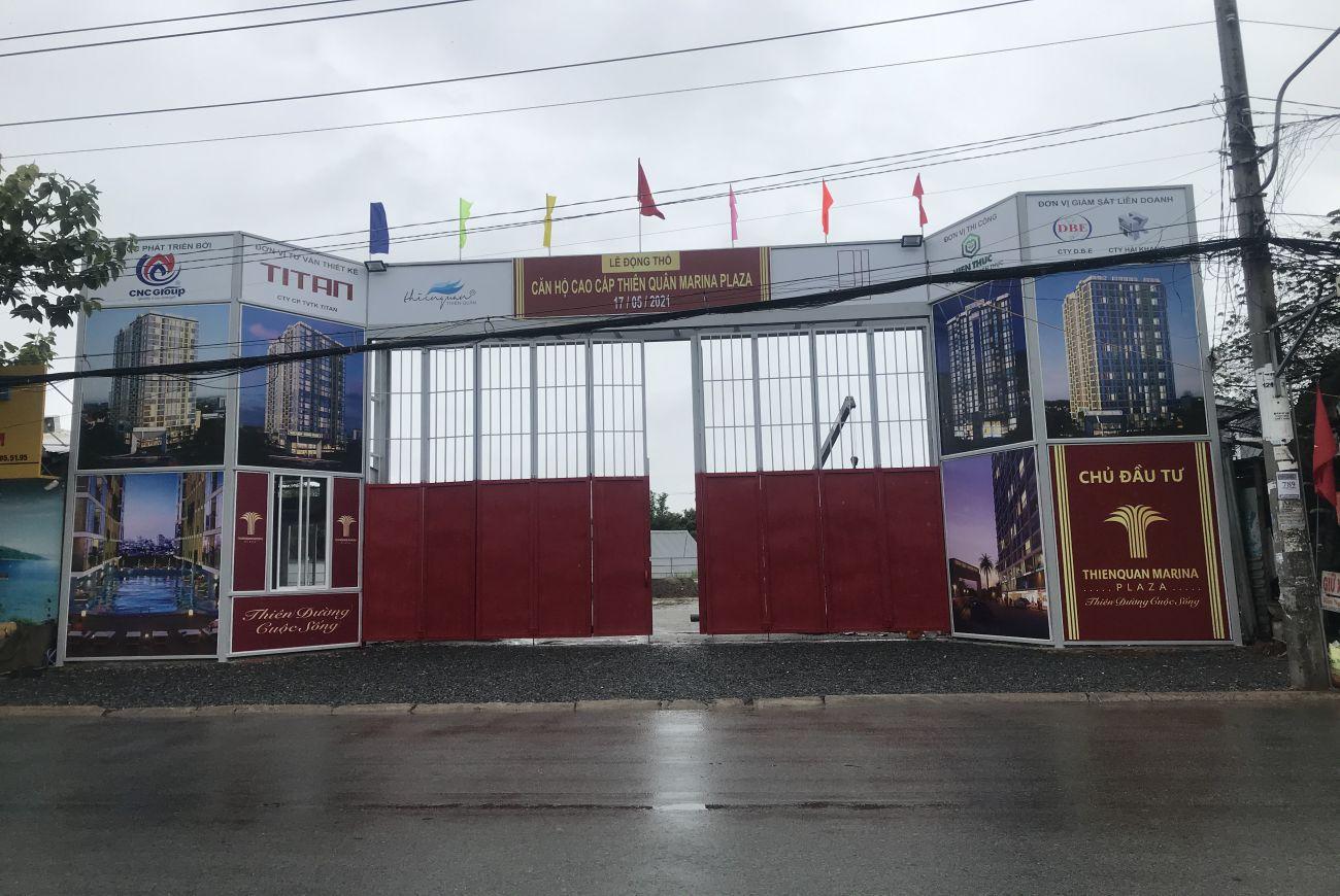 Tiến độ xây dựng Thiên Quân Marina plaza tháng 6/2021
