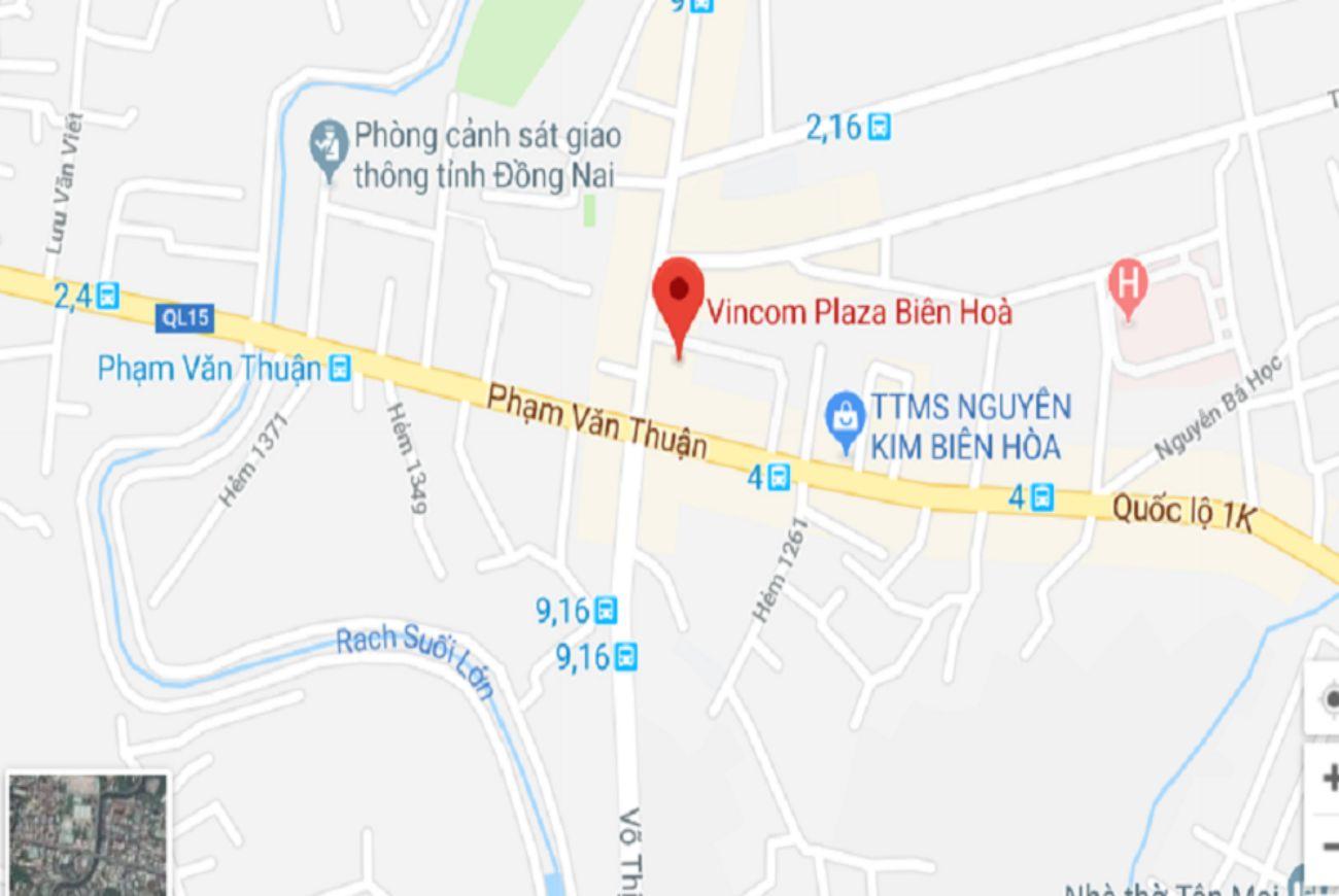 Vị trí Vincom Biên Hòa
