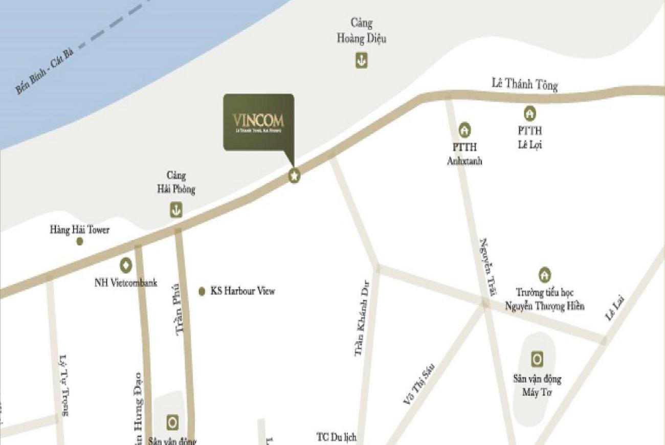 Vincom Hải Phòng Location