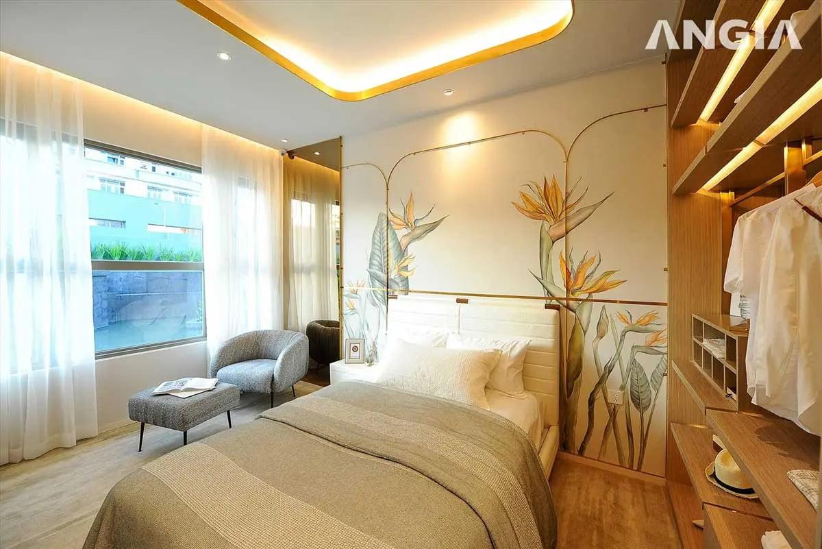 Phòng ngủ căn hộ The Gió Riverside Bình Dương