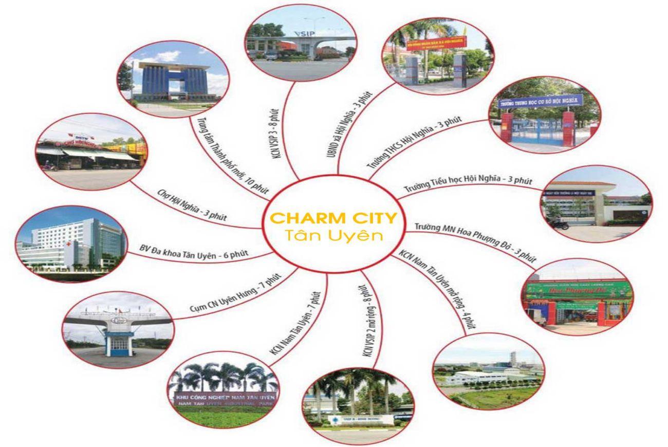 Tiện ích ngoại khu Charm City Tân Uyên