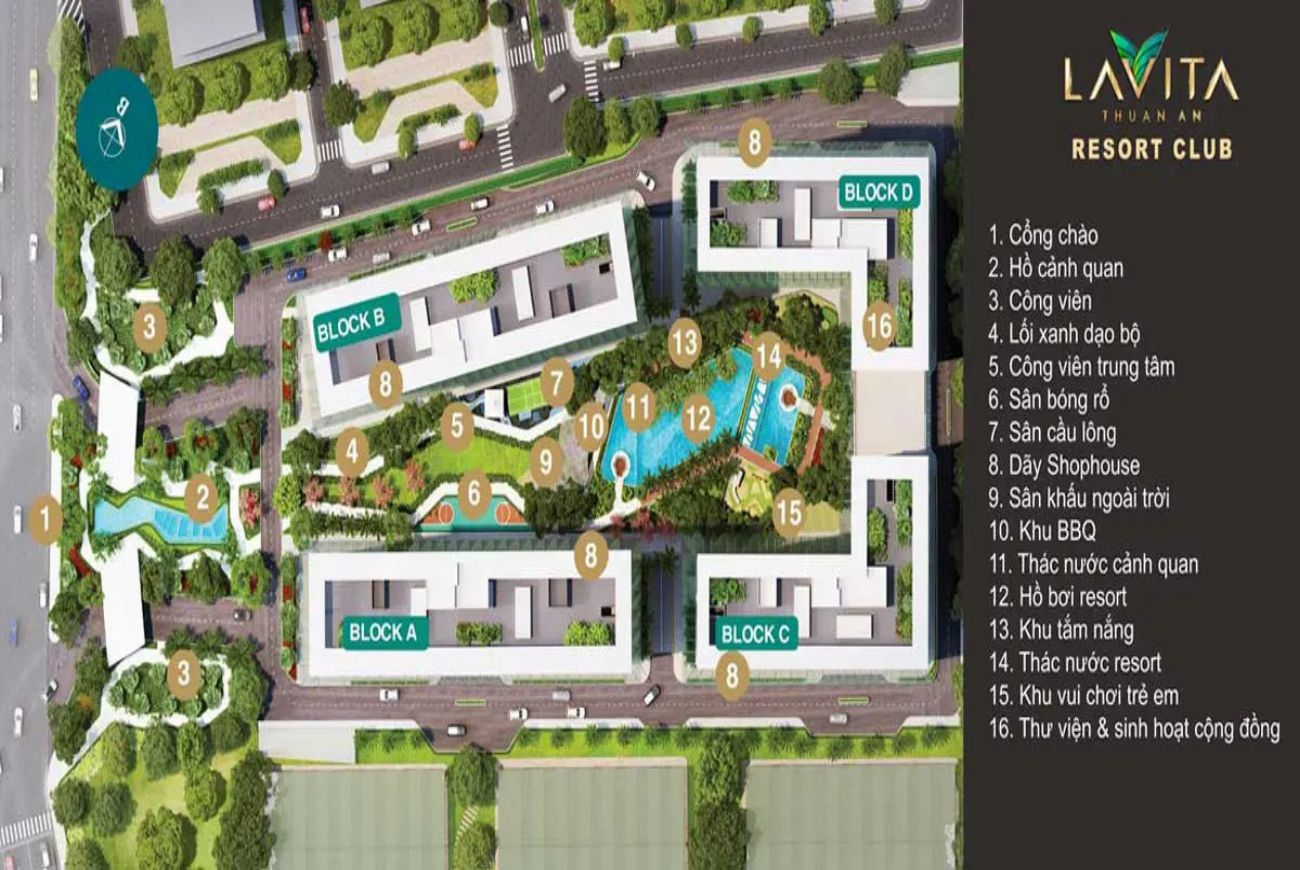 Tiện ích nội khu Lavita Thuận An