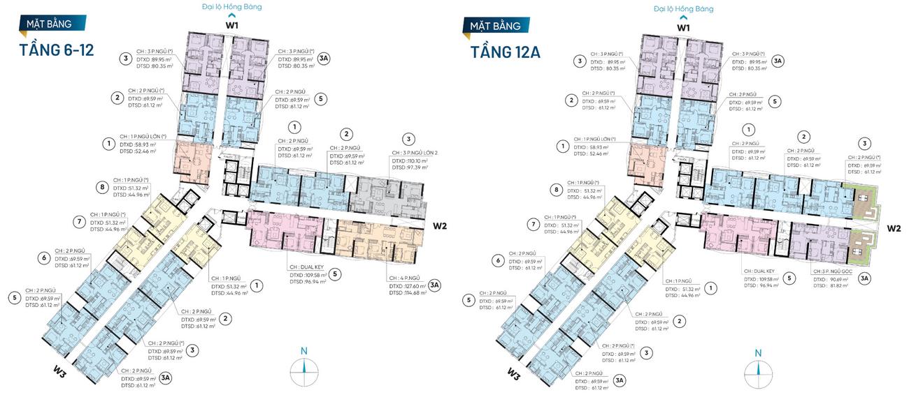 Mặt bằng dự án căn hộ chung cư D Homme Quận 6 Đường Hồng Bàng chủ đầu tư DHA