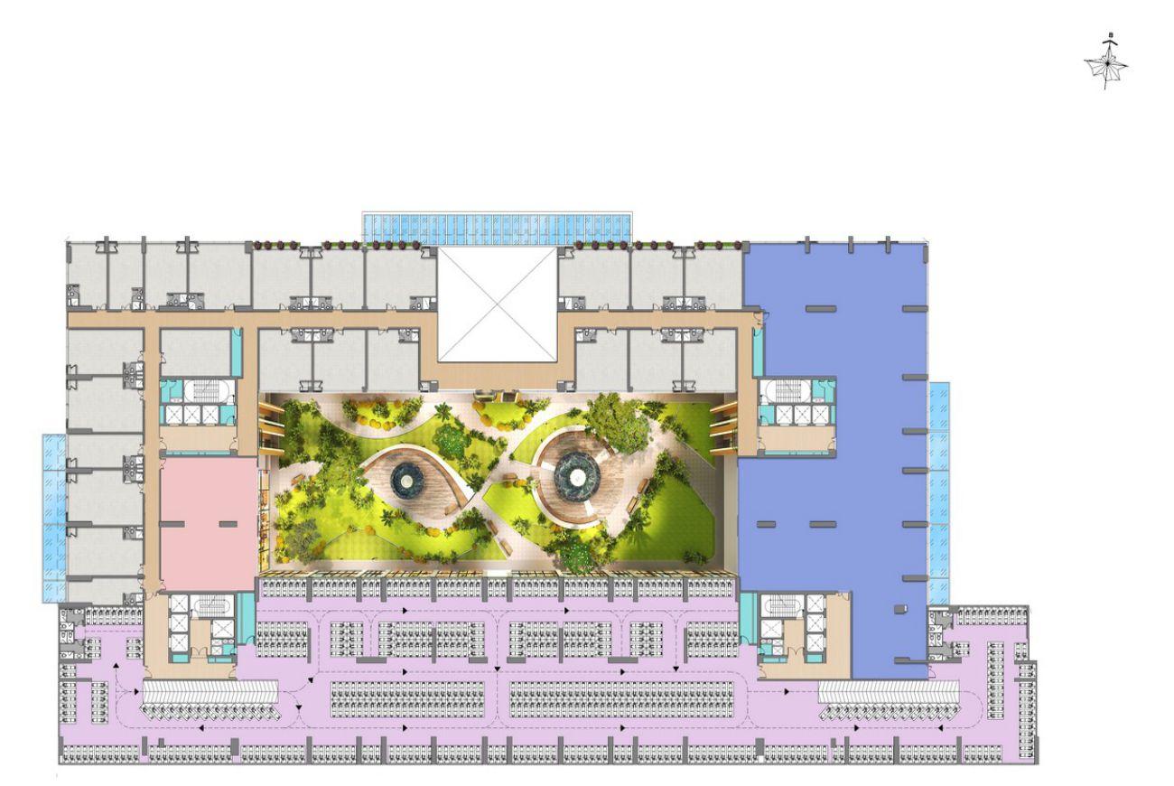 Mặt bằng tầng 2 dự án căn hộ Green Star Sky Garden quận 7