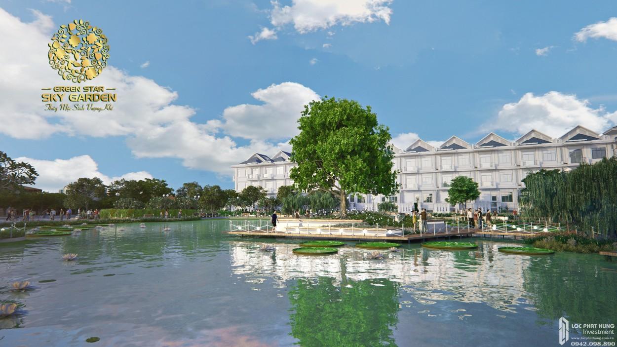Hồ thượng uyển dự án căn hộ Green Star Sky Garden quận 7 mát và thoáng