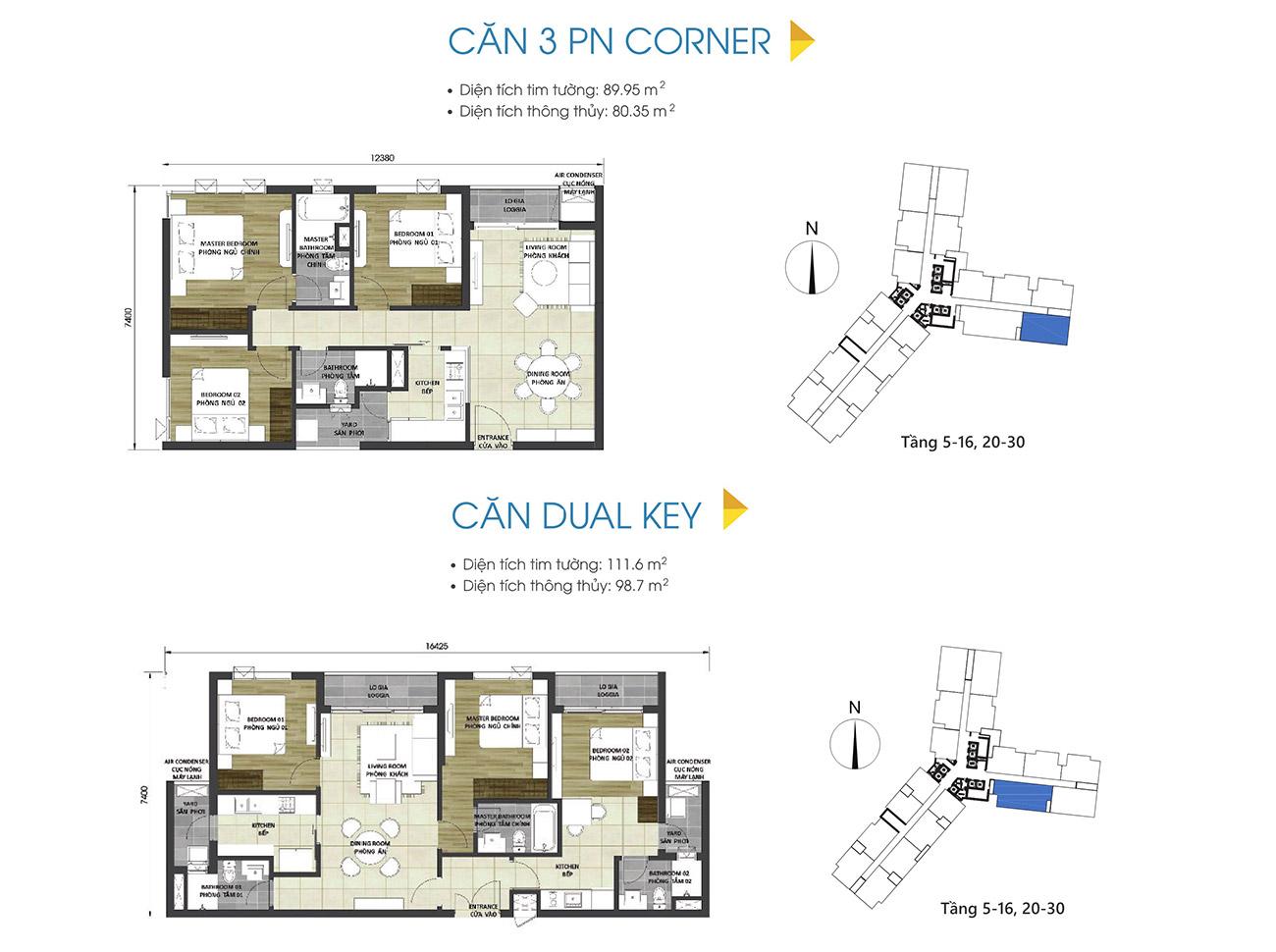 Thiết kế chi tiết căn hộ 3 phòng ngủ dự án & Dual Key D-Homme Quận 6 đường Hồng Bàng