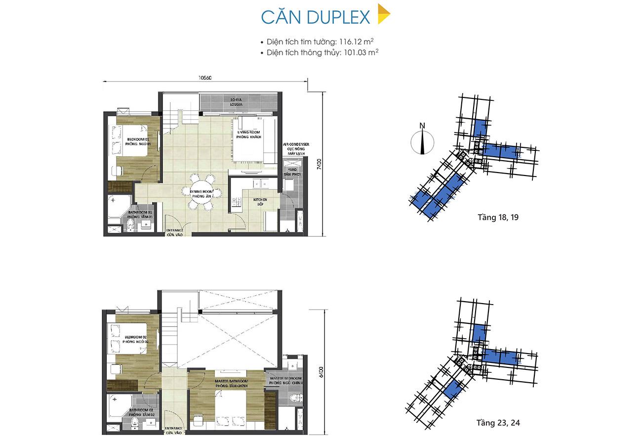 Thiết kế chi tiết căn hộ duplex dự án D-Homme Quận 6 đường Hồng Bàng