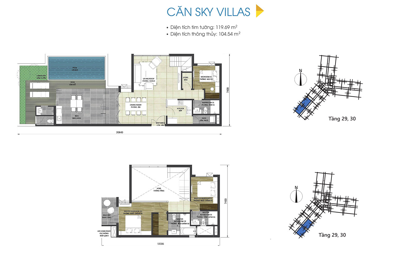 Thiết kế chi tiết căn hộ sky villas dự án D-Homme Quận 6 đường Hồng Bàng