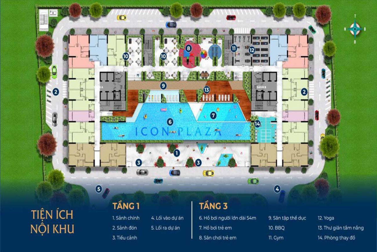 Mặt bằng chi tiết Icon Plaza Bình Dương