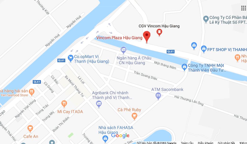 Vị trí Vincom Vị Thanh