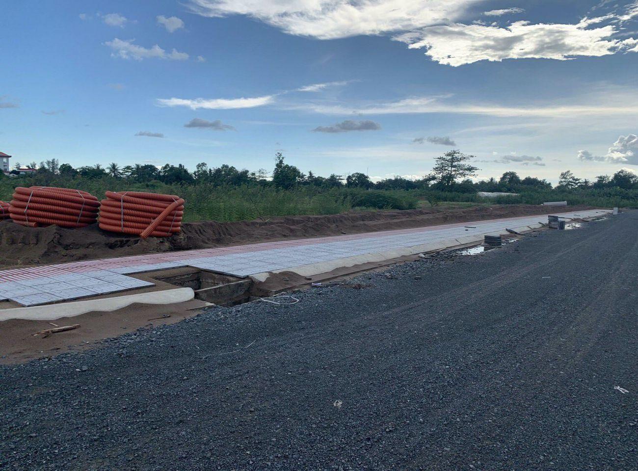 Tiến độ xây dựng Cồn Khương Diamond City tháng 06/2021