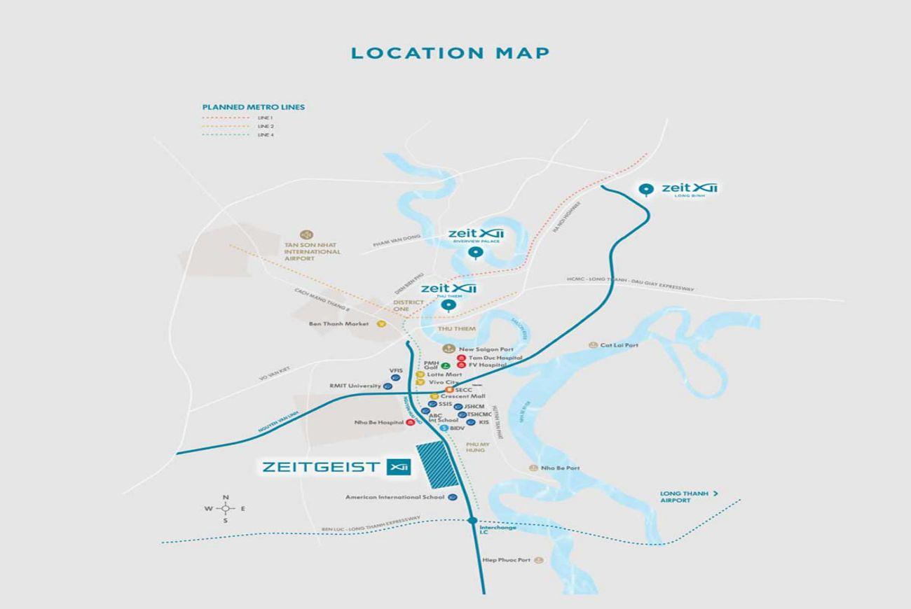 Vị trí Zeit Xii River County Nhà Bè