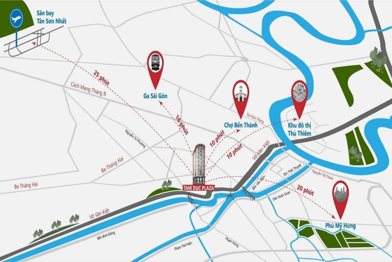 Vị trí căn hộ Tam Đức Plaza Quận 5