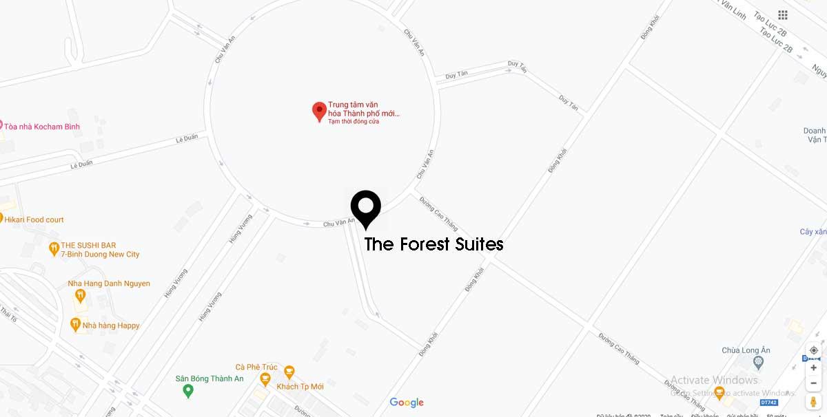 Vị trí The Forest Suites Bình Dương