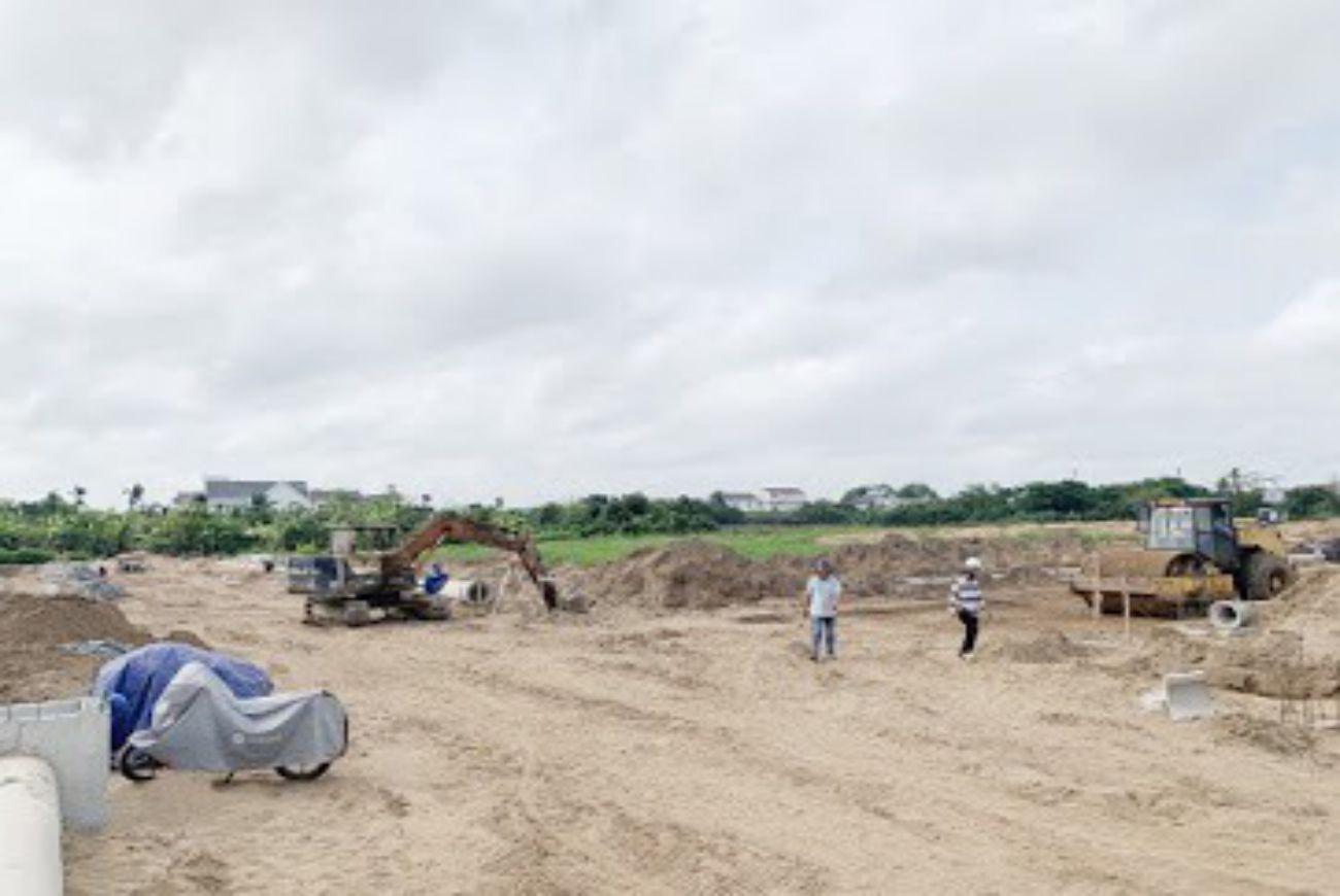 Tiến độ xây dựng dự án Cồn Khương Diamond City tháng 05/2021