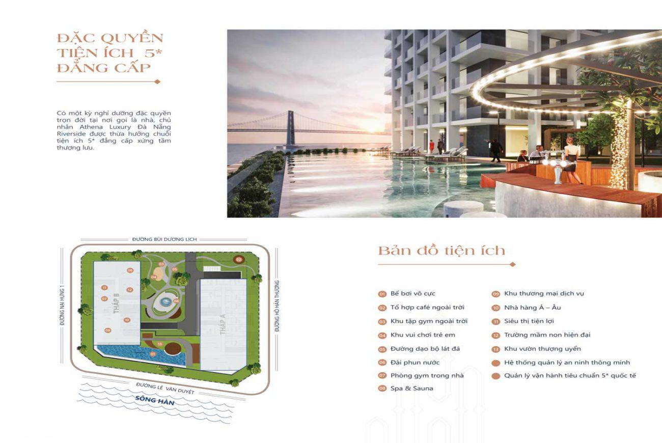 Tiện ích nội khu Athena Luxury Đà Nẵng Riverside