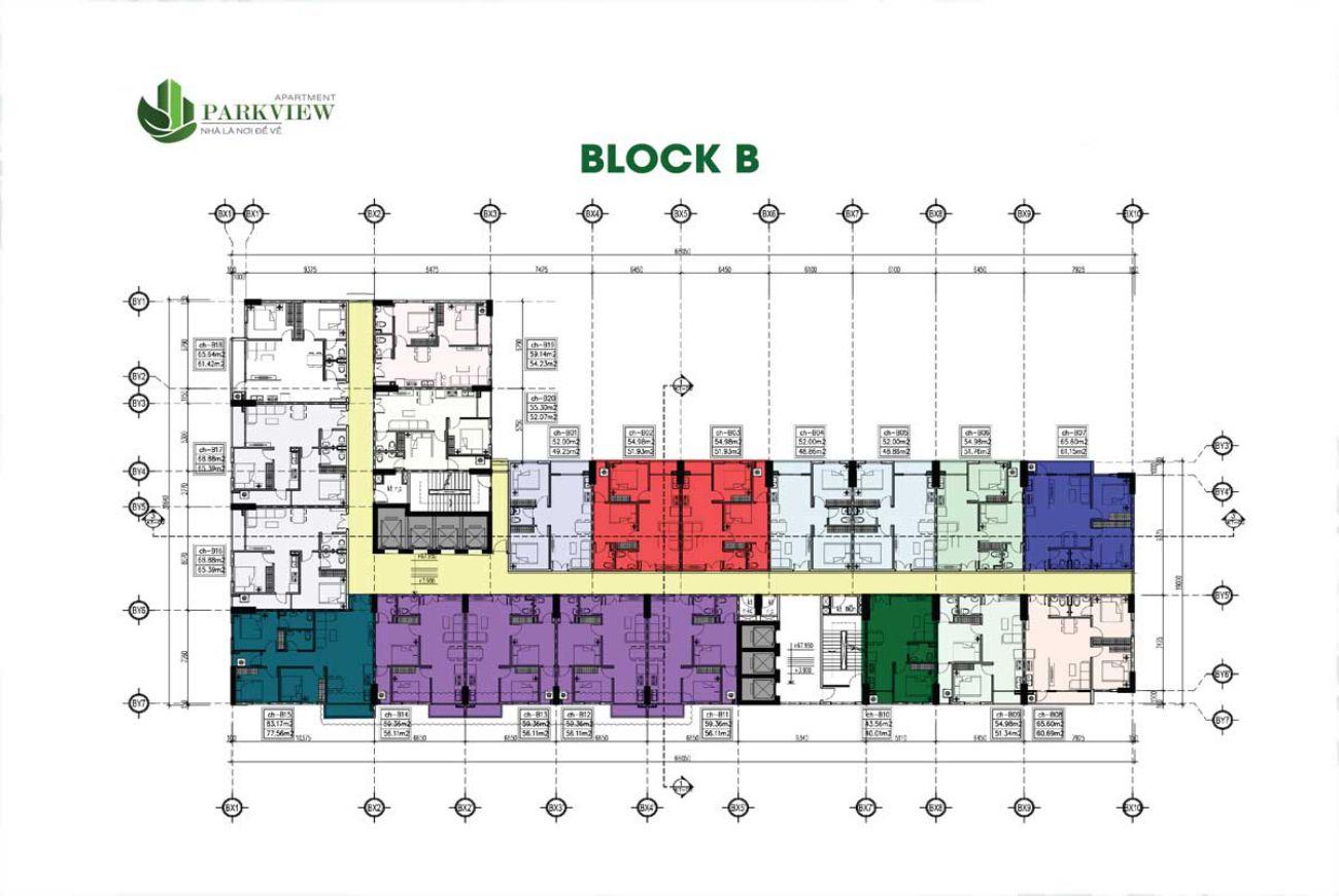 Mặt bằng dự án Parkview Apartment Bình Dương