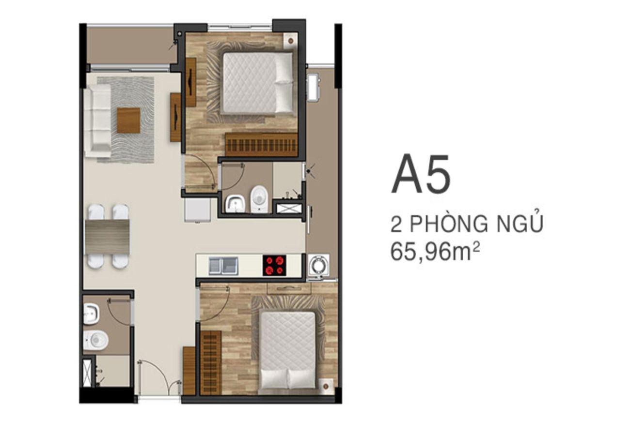 Thiết kế căn hộ King Crown Center Thủ Đức