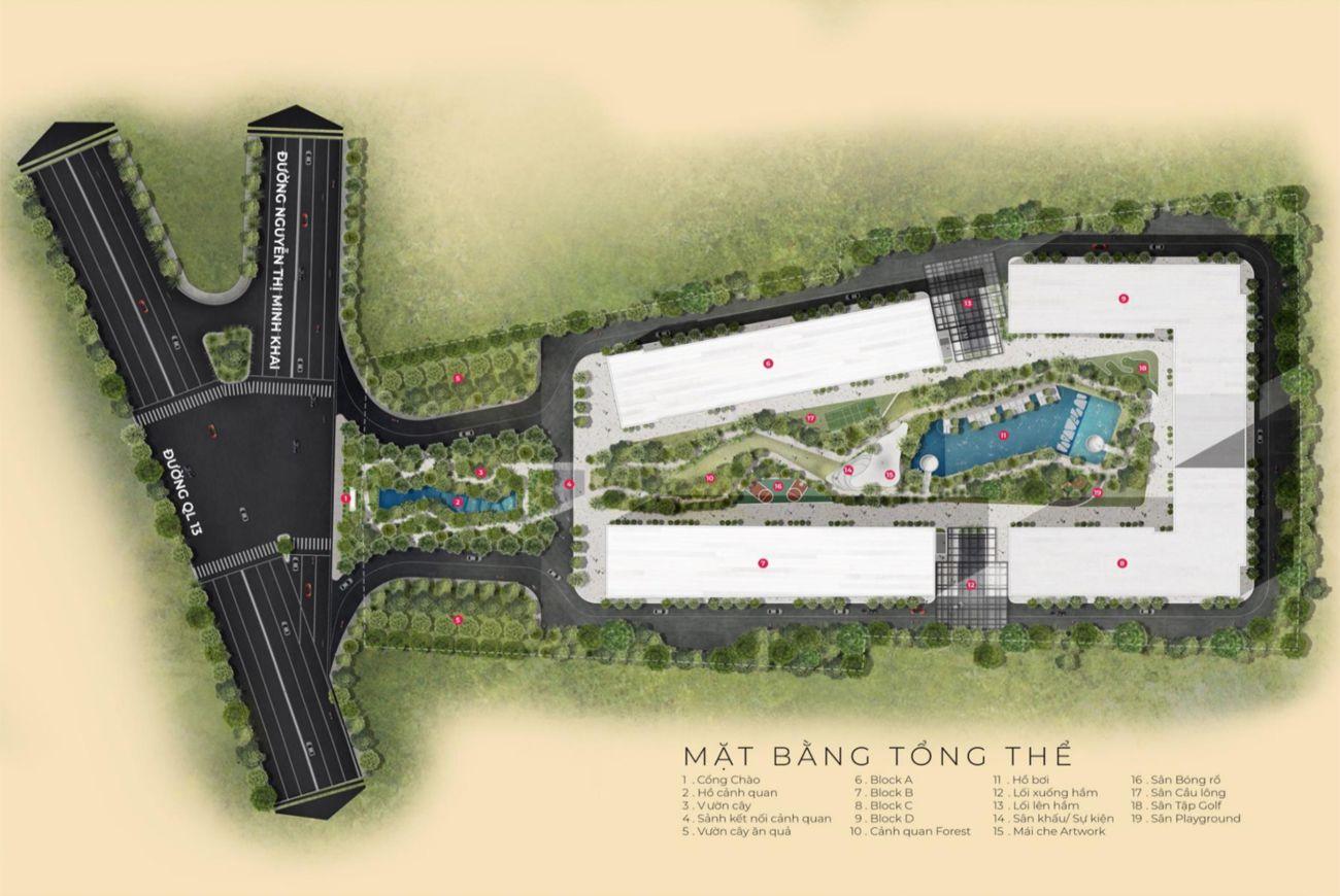 Mặt bằng dự án Anderson Park Bình Dương