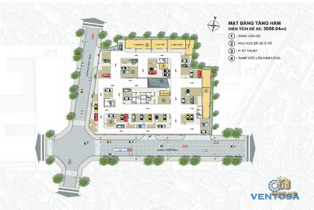 Mặt bằng dự án Venus Luxury Quận 5