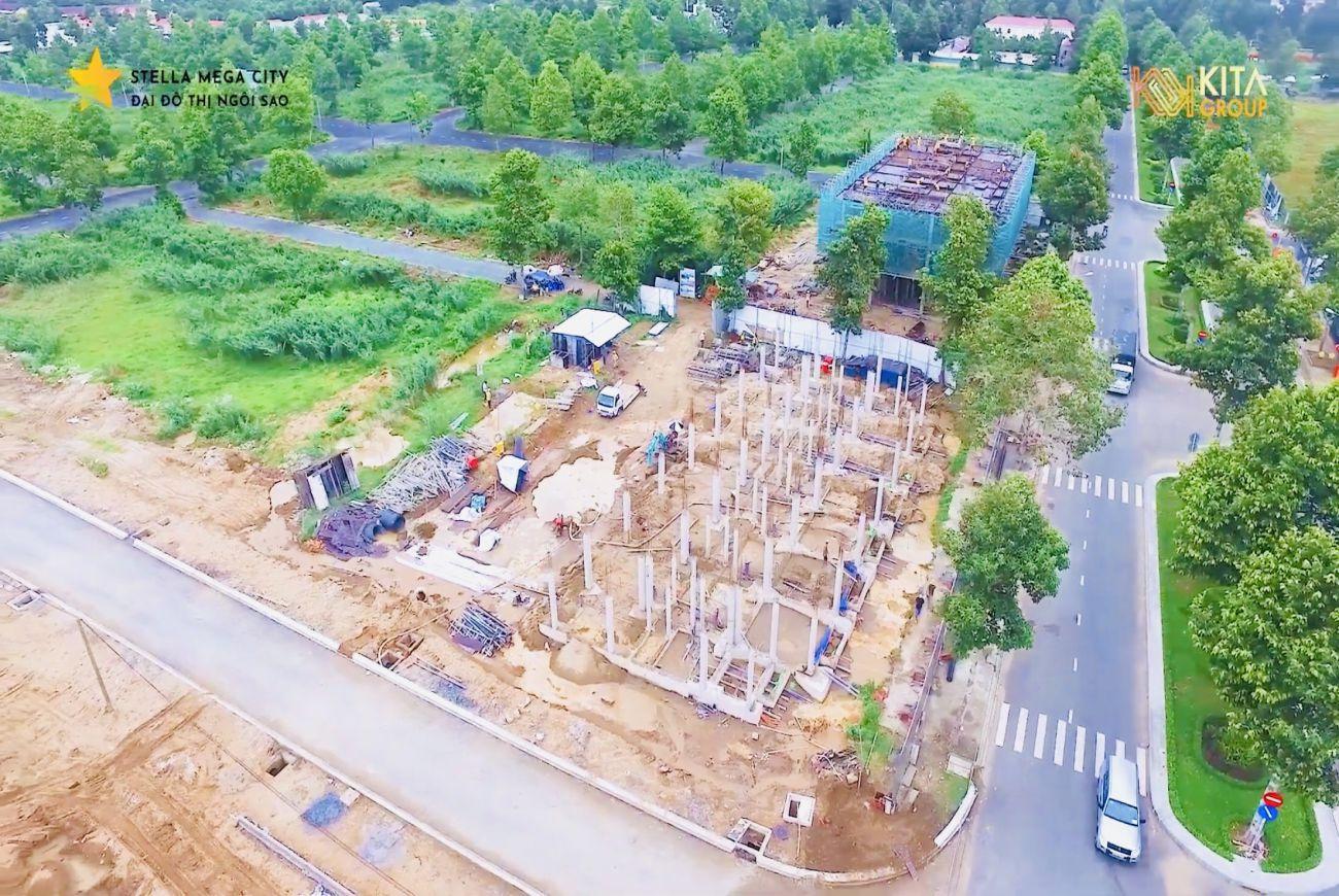Tiến độ xây dựng Stella Mega City tháng 06/2021