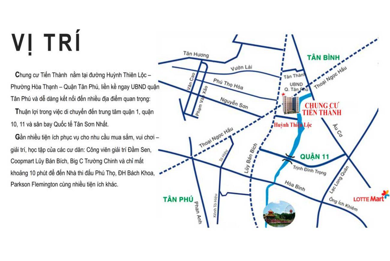 Vị trí Căn Hộ Chung Cư Tiến Thành Tân Phú