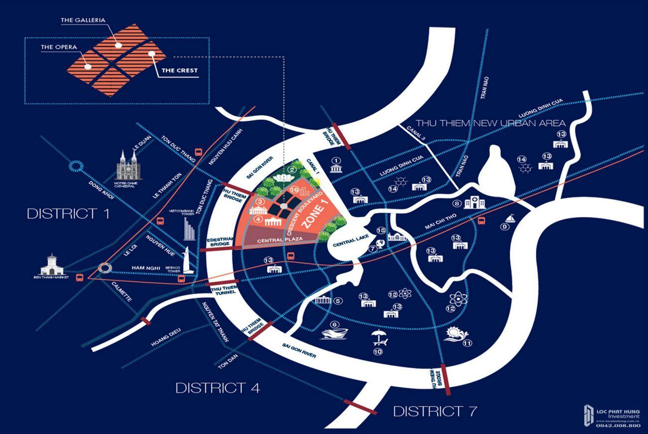 Vị trí căn hộ The Crest Residence Quận 2