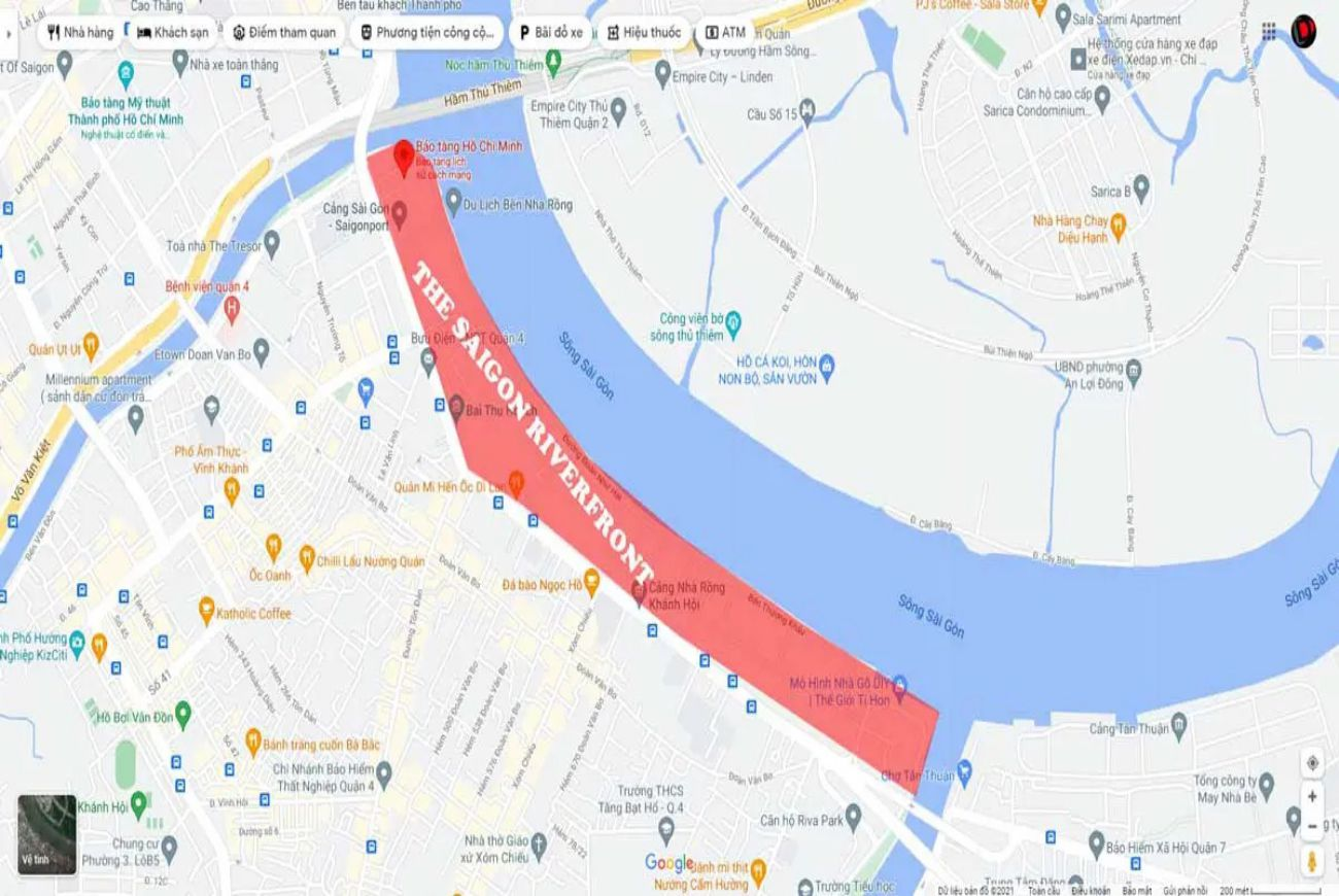 Vị trí căn hộ The Saigon Riverfront