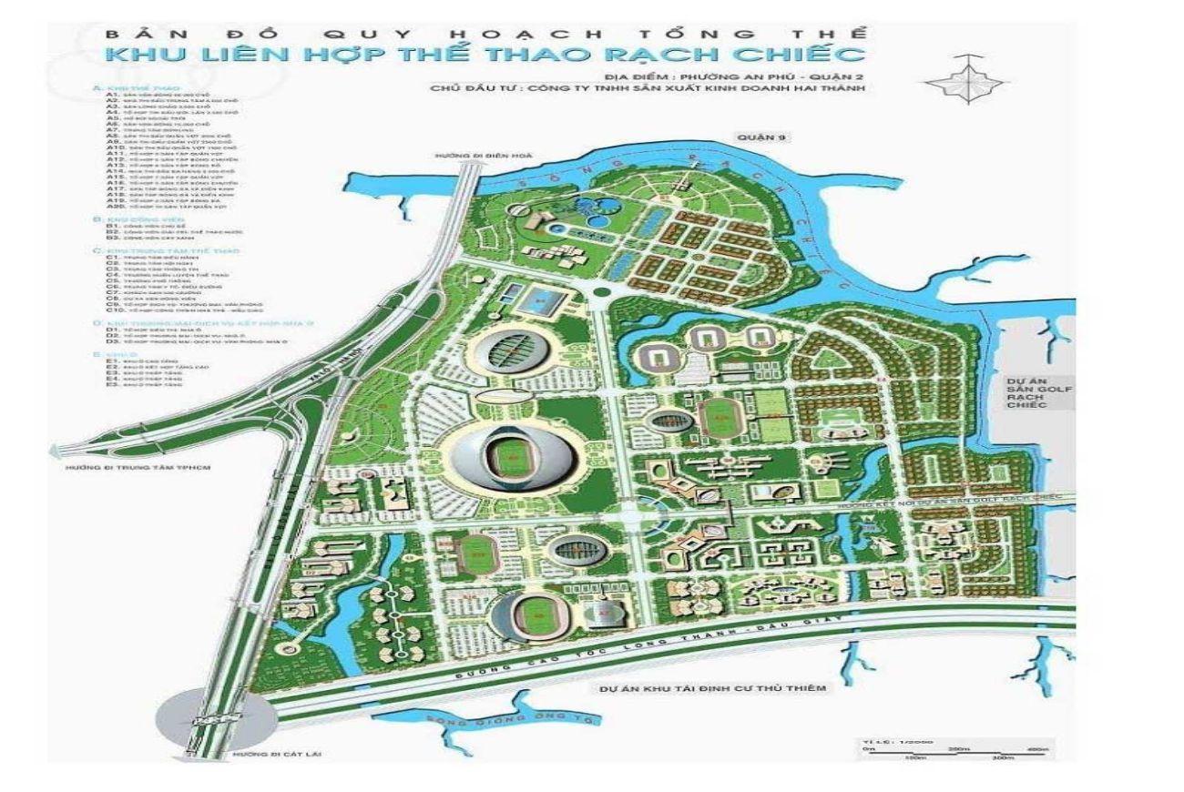 Mặt bằng dự án Saigon Sports City Quận 2