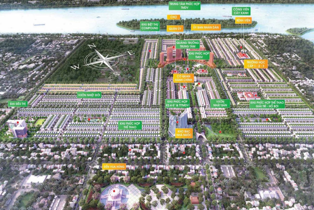 Mặt bằng thiết kế khu đô thị Stella Mega City Cần Thơ