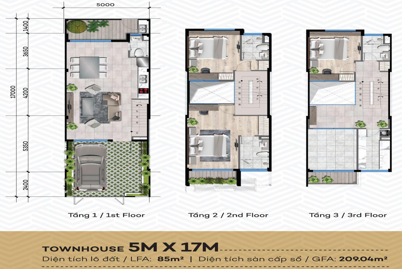Thiết kế căn hộ The Standard Dĩ An
