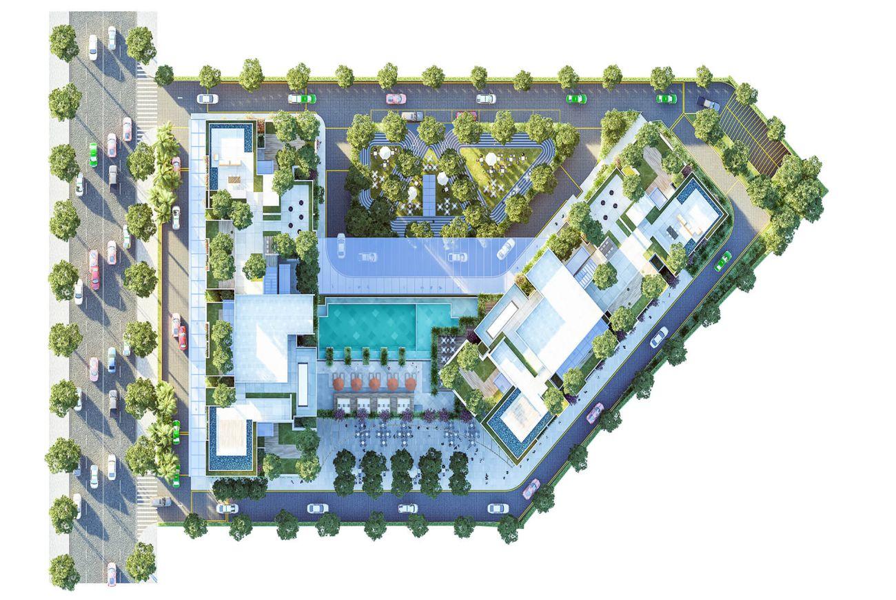 Mặt bằng dự án Asiana Riverside Quận 7