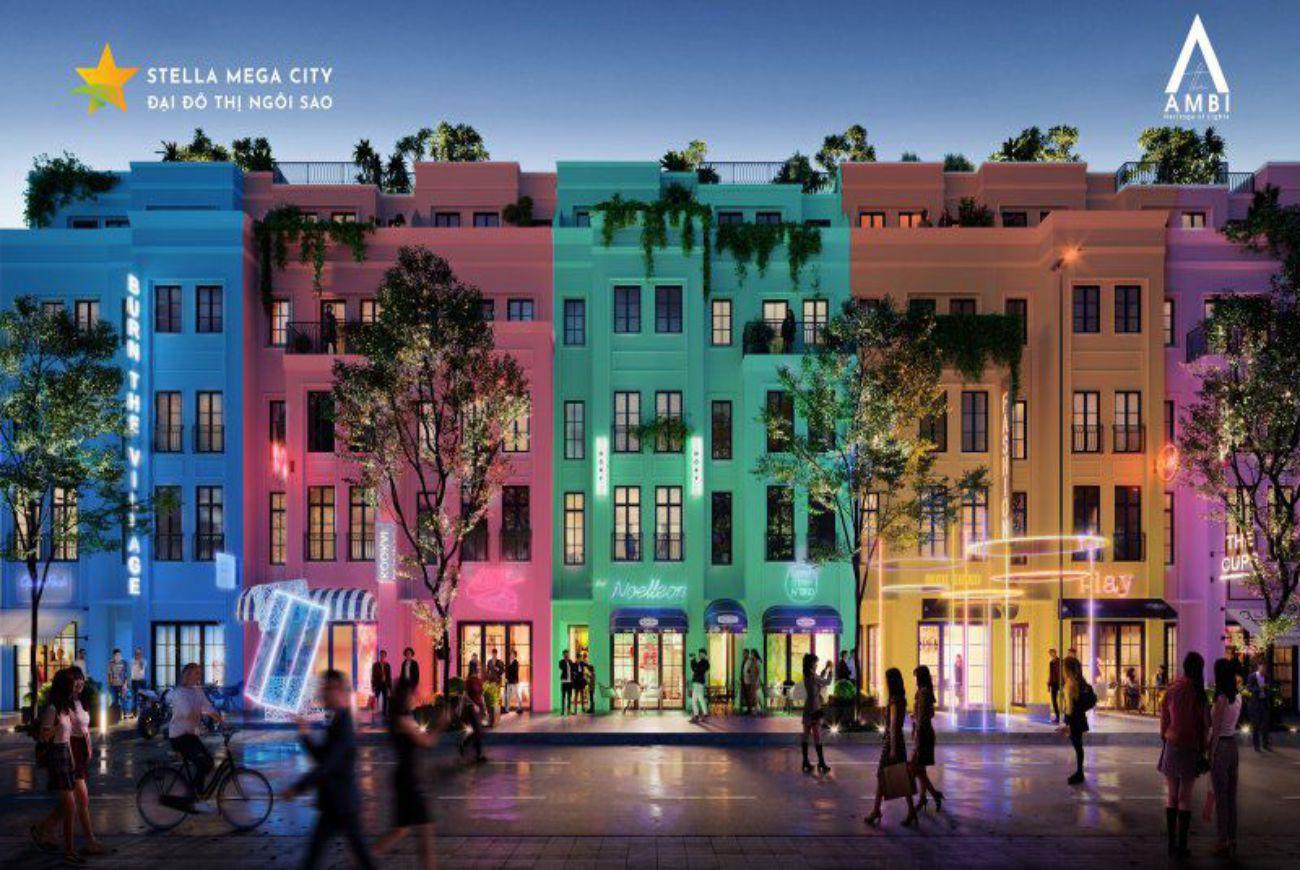 Khu Shophouse kinh doanh – phố đi bộ Stella Mega City