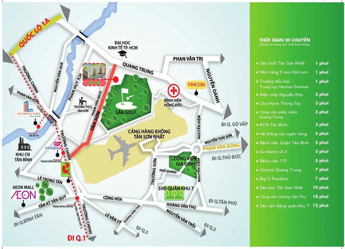 Tiện ích ngoại khu Golf View Palace Tân Bình