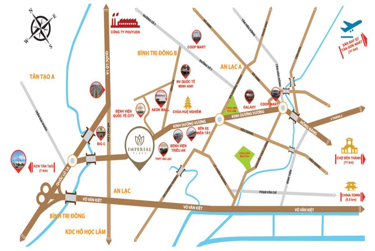 Vị trí Imperial Place Bình Tân