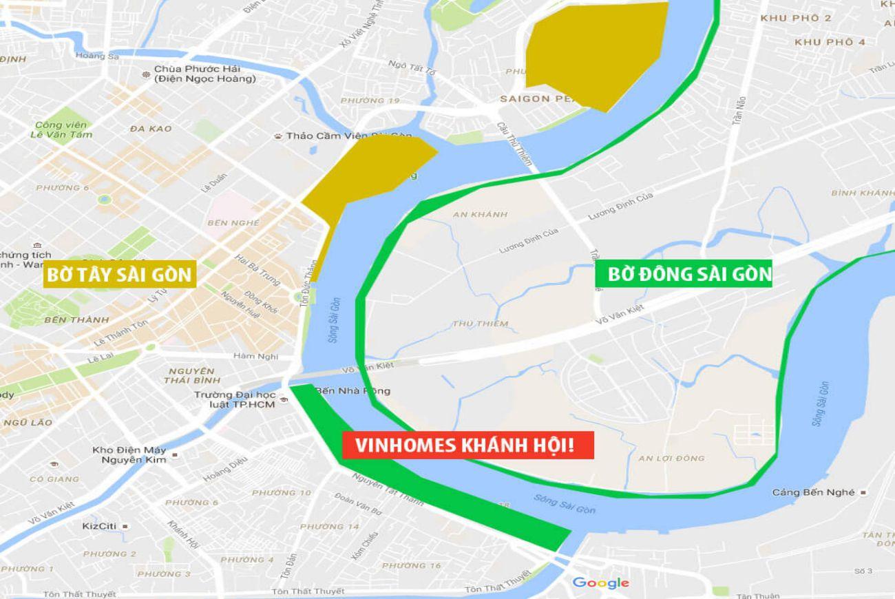 Vị trí căn hộ Vinhomes Khánh Hội Quận 4