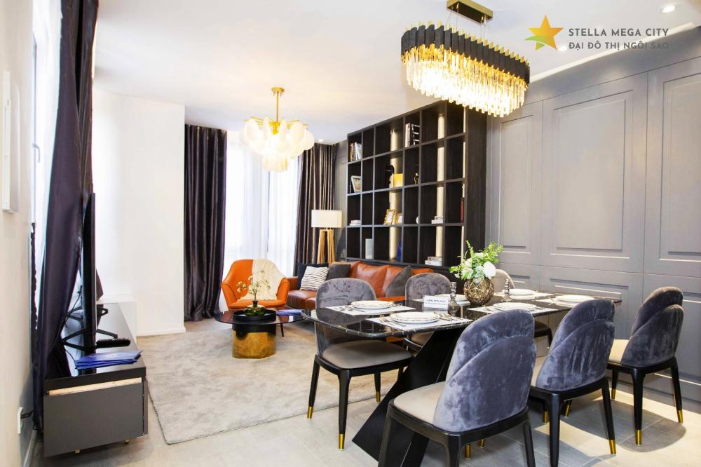 Không gian nội thất nhà mẫu Stella Mega City.