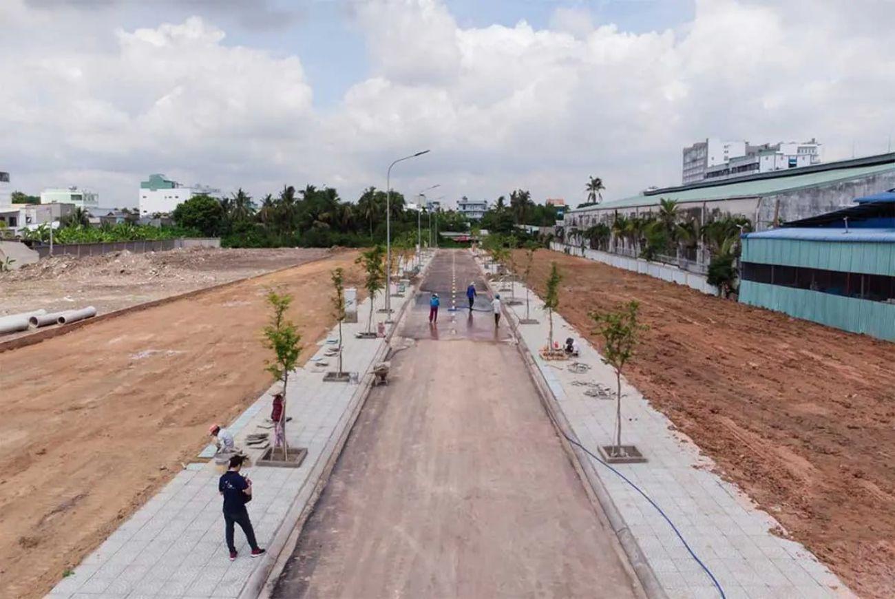 Tiến độ xây dựng nền đất khu The Garden View