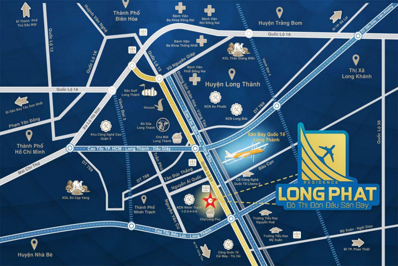 Vị trí Dự án Long Phát Residence Đồng Nai
