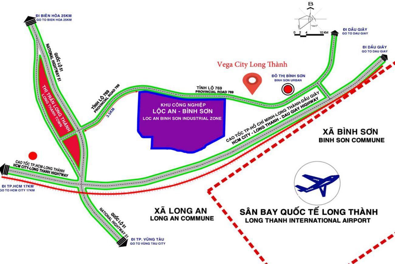 Vị trí Dự án Vega City Long Thành Đồng Nai