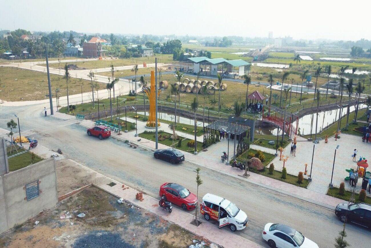 Tiến độ xây dựng nền đất khu Long Cang RiverPark