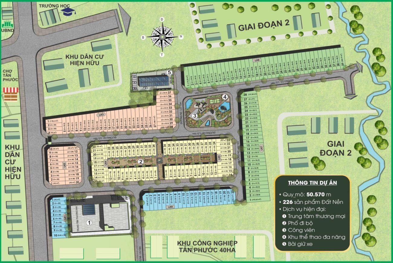 Mặt bằng dự án Prime City Bình Phước