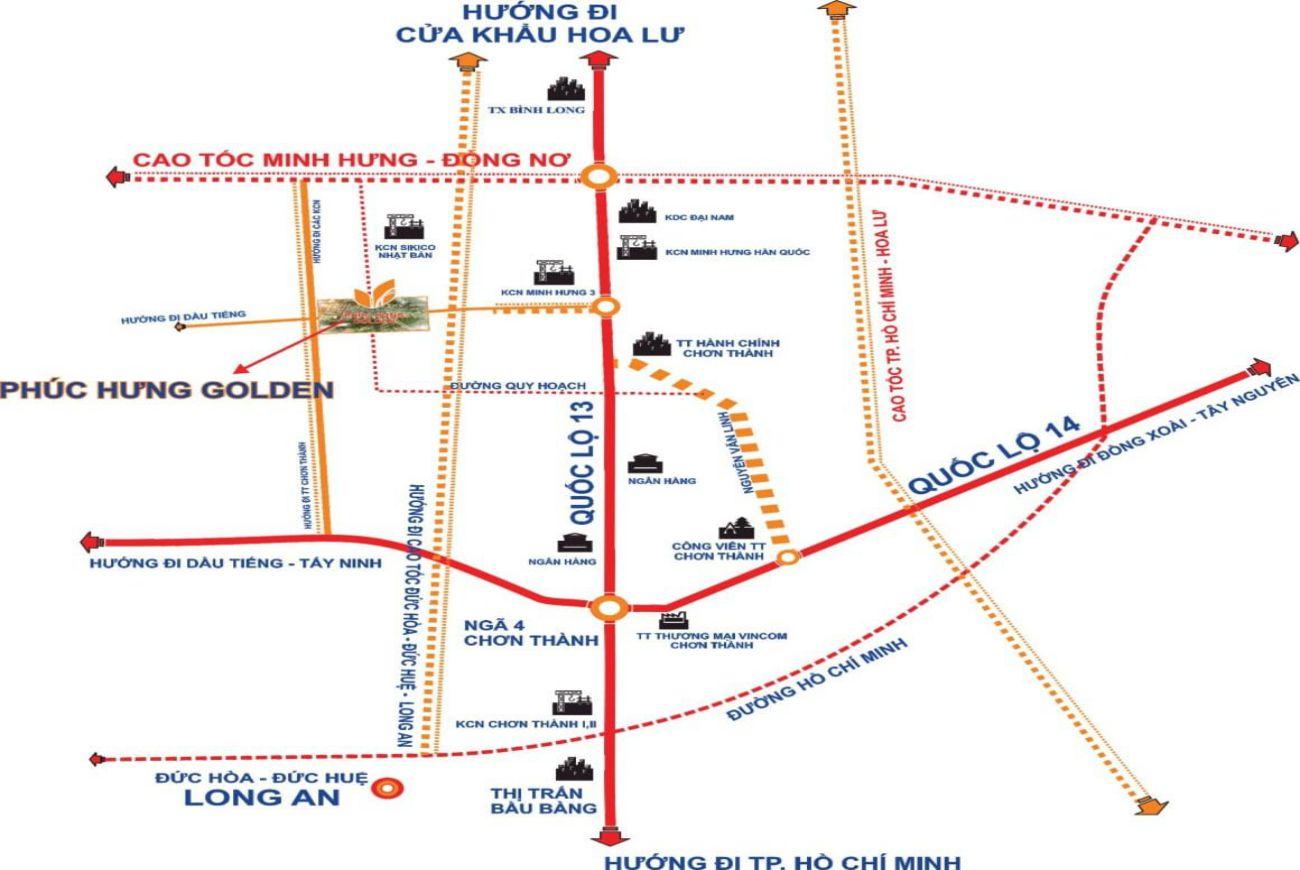 Vị trí Dự án Phúc Hưng Golden Đồng Nai