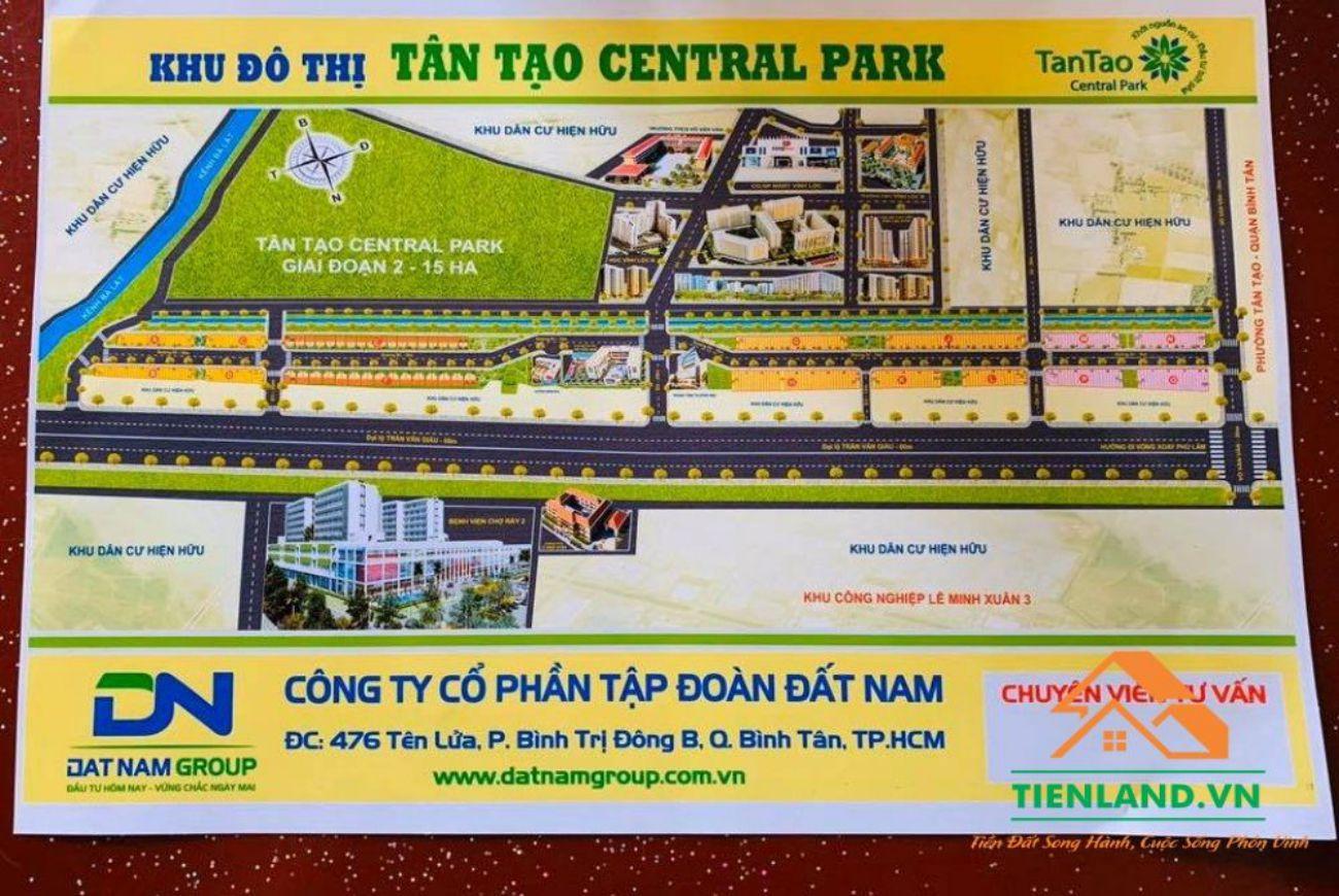 Mặt bằng Tân Tạo Central Park Bình Tân