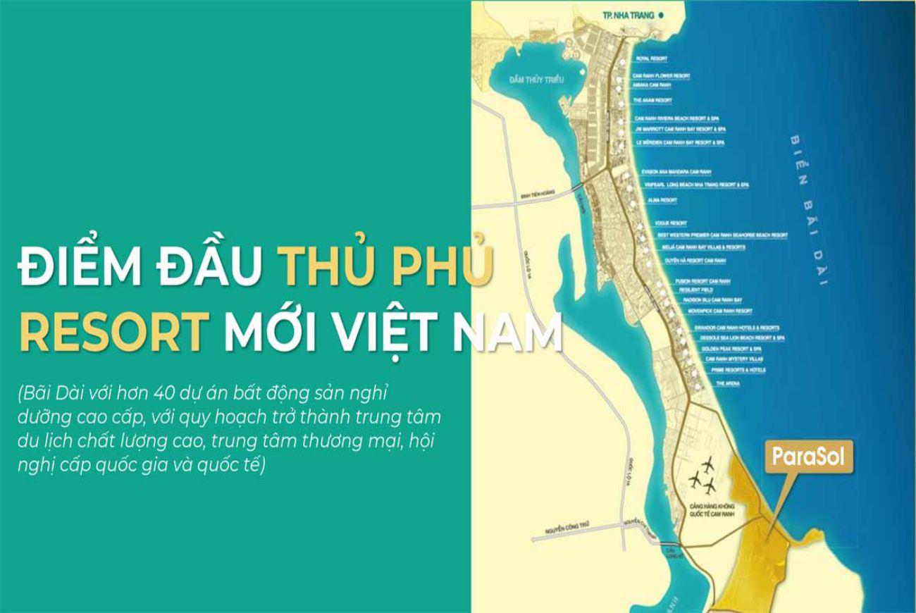 Vị trí dự án ParaSol Cam Ranh