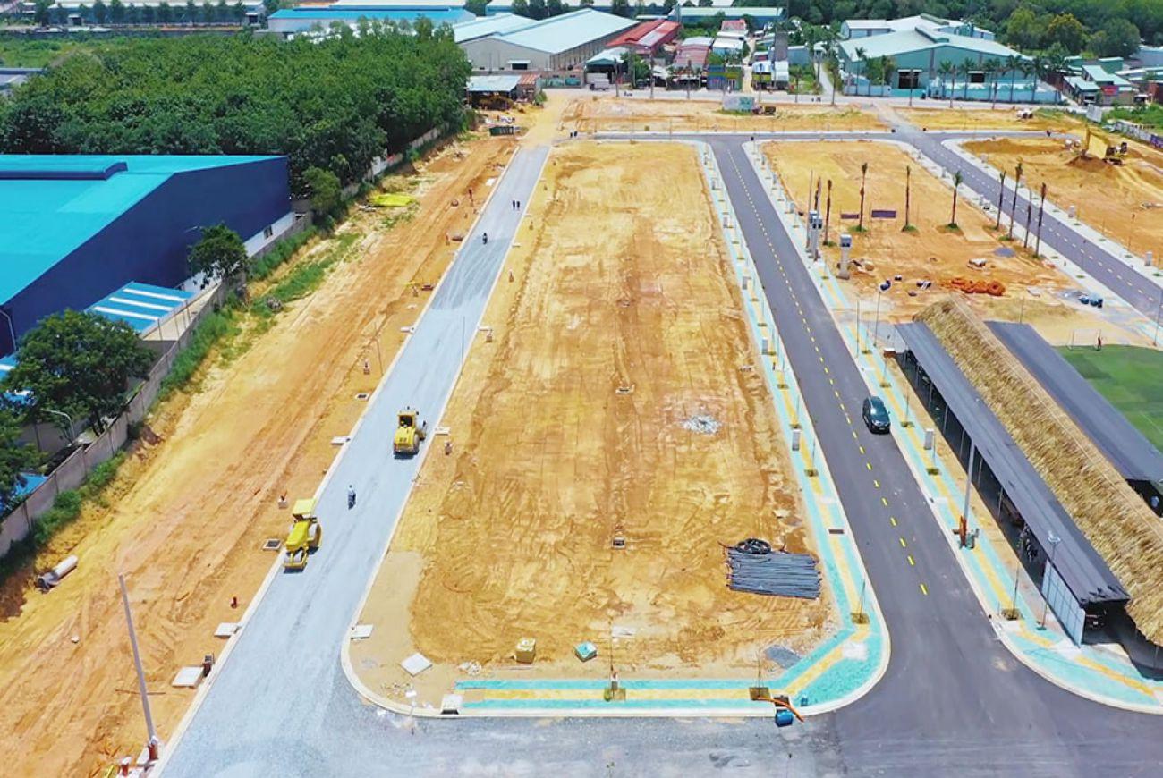 Tiến độ xây dựng tháng tại Tân Hiệp Central Bình Dương