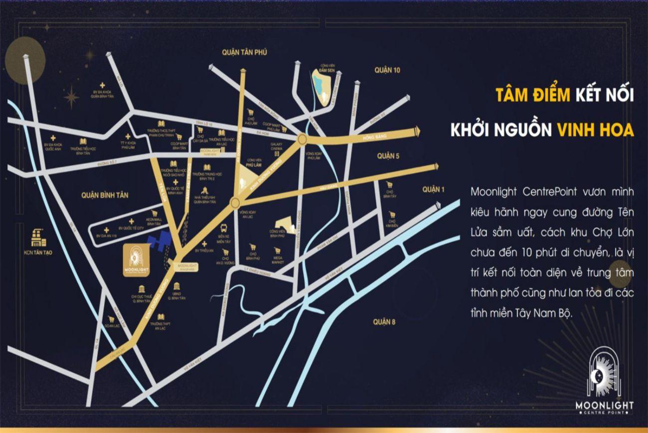 Vị trí Moonlight Centre Point Bình Tân
