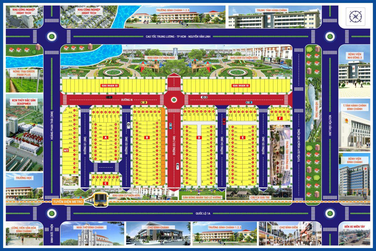 Mặt bằng Bình Chánh New Center